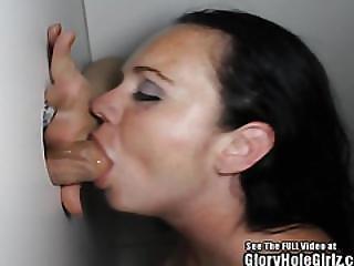Short Freckle Skank Sucking Dick In Glory Hole
