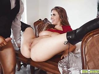 Lena Climbs On The Table To Get Fucked Hardcore