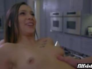 Perverted Stepbrother Taps That Booty