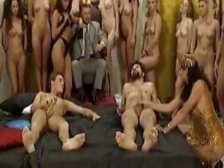 cul, sodomie, pipe, brunette, poitrine généreuse, classique, éjaculation, dp, nique, orgie, chatte, baisage de chatte, rétro, sexe, vintage