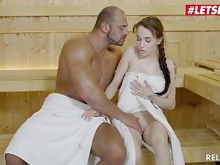 Relaxxxed - Petite Big Tits Teen Angel Rush Hard Fuck At Sauna - Letsdoeit