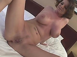 Awesome Brunette Milf Rides Monster Black Dick