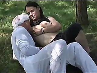 Natural Tits Milf Shows Her Nipples While Fucking Strap On Weird Boyfriend