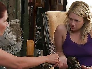 Housewife And A Younger Girl Tasting Each Other
