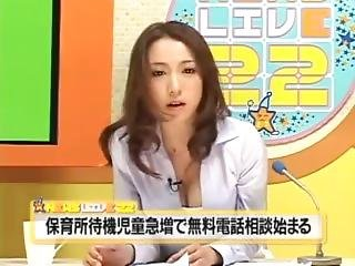 Japanese Gets Eaten Out Doing News & Squirts
