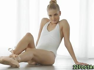 Ballerinas Toes Jizzed After Riding Cock And Oral Sex