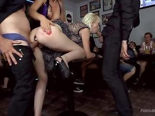 Blond Is Mocked And Fucked In Public
