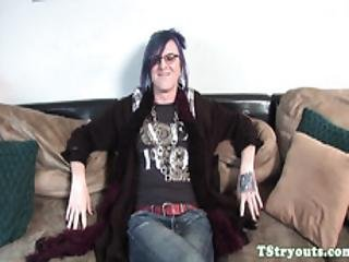 Alt Casting Tranny Playing With Her Asshole