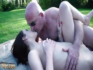 Fat Old Man Licks Young Pussy And Fucks The Teen Hard And Deep