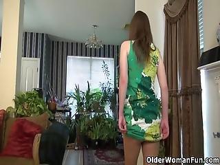 American Milf Susana Moore Peels Off Her Nylon Pair Of Pantyhose And Lets Us Enjoy Her Bushy Pussy Bonus Video: American Milf Artemisia