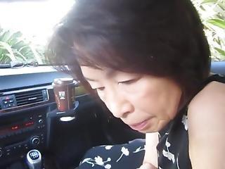 Mature Asian Car Bj