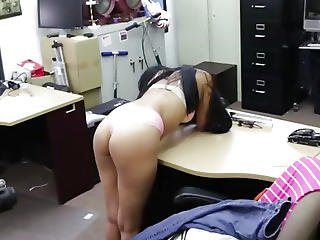 Huge Ass College Babe Gets Pounded Hard In The Shop By A Huge Cock