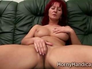 Mature Caregiver Can Not Stand Her Lust And Begins To M