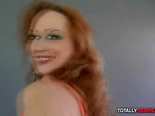 Curly Redhead Mature Dalia Screams As Cock Is Drilling Her Pussy