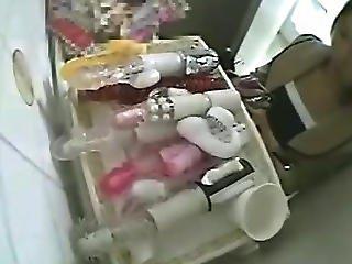 Uniform Girl Toilet Masturbation