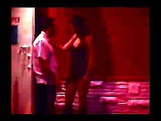 Brunette In A Skirt Sucks Dick A Guy