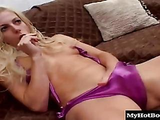 Angela Stone Is A Hot Blonde With Tiny Tits But Dont Underestimate The