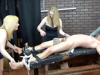 Stupid Male Tickled By 3 Girls