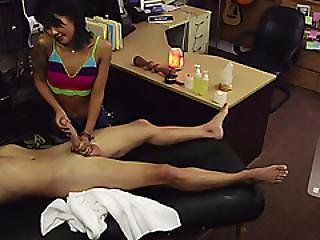 Lovely Skinny Asian Sucked And Fucked A Big Hard Dick