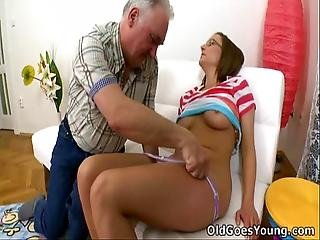 Amy Gives Herself To This Old Guy
