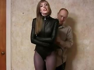 Tight Leather Straitjacketed
