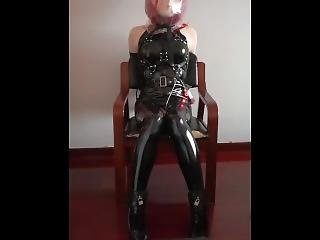 asiatisk, bondage, fetish, solo