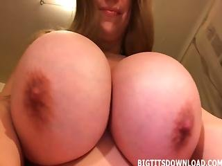 Girl With Gigantic Tits Posing On Webcam