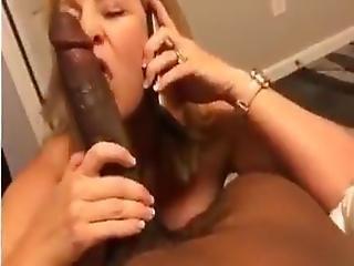 Cheating Milf Sucks Bbc While On Her Phone