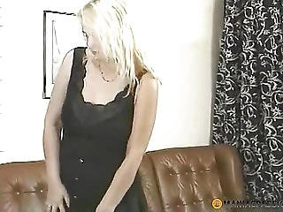 Woman Takes Off Everything But The Tights