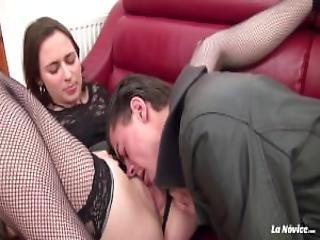 La Novice French Babe Silvia Gets Her Pussy And Ass Hole Drilled Hard