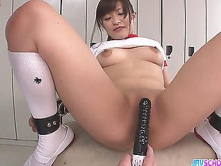 Winsome Legal Age Teenager Aika Hoshino Acquires Team-fucked By Giant Sex Toys At Japanese Bitches