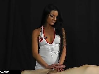 Tatjana Nurse Dress Handjob 1