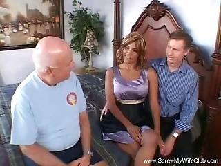 Anal 3some For Horny First Time Swinging Wifey Babe