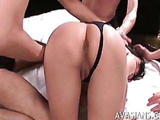 Gaping Anal Asian Group Sex Party