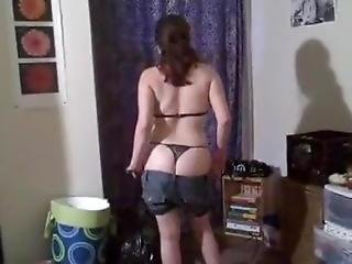 Shy & Sexy Cutie Strips And Eagerly Sucks Big Cock