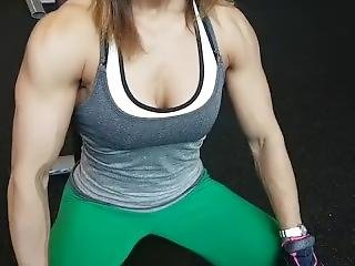Muscle Girl Workout And Flexing 54