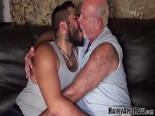 Lanz Adams Wanted To Warm Up To Daddy Chuck Collier So The Old Man Can Stick His Cock Inside Him And Make His Hole Feel Good!