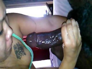 Asian Sucking Sloppy Black Dick
