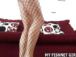 БДСМ, Femdom, рыболовная сеть, подвязка, чулок