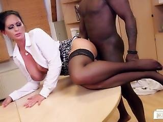 Bums Buero - Busty German Milf Secretary Gets A Taste Of Bbc At The Office