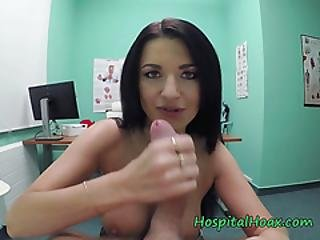 Busty Babe Ania Kinski Enjoys Doctors Big Cock