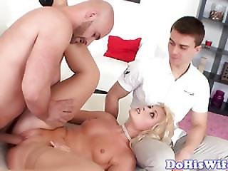 Doggystyle Fucked Milf Cuckolds Her Hubby