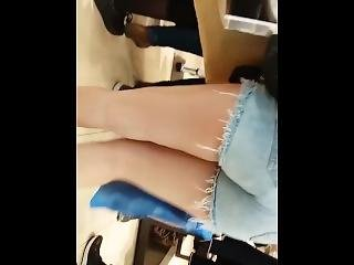 amateur, arsch, jeans, öffentlich, shorts