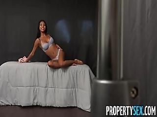 Propertysex - Hot Teen Tenant Fucks Conservative Landlord