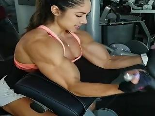 Female Bicep Muscle Workout (morphed)