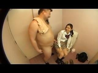 College Bear Jerkoff In The Tolet With Girl Classmates.