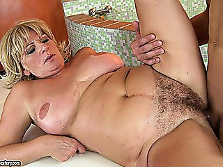 Golden-haired Mature Sex ;dominatrix Gets Her Curly Soaked Crack Deeply Plowed