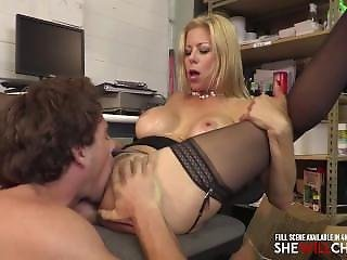 Older Hotwife Office Slut Cheats On Husband With Younger Guy, Alexis Fawx