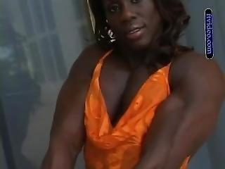 Sheilahe In Orange Dress