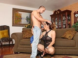Eli Hunter Bangs Tgirl Latina Asshole
